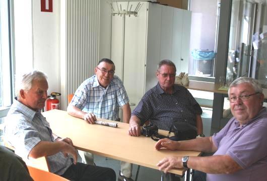 Horst Rubbert, Heinrich Scheibe, Ulrich Krämer und Gerd Wald