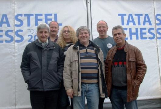 vlnr: Helmut Drees, Ansgar Haberhausen, Jenny Leveikina, Peter Trzaska, Thomas Sikorski und Agim Selmanaj